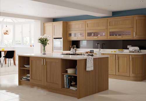 Kệ bếp gỗ tự nhiên 054