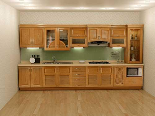 Kệ bếp gỗ tự nhiên 056
