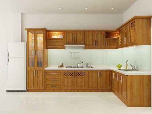 Kệ bếp gỗ tự nhiên 058