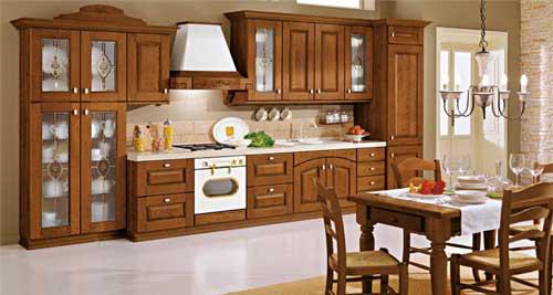 Kệ bếp gỗ tự nhiên 064