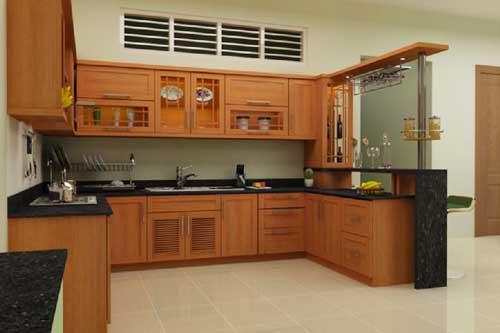 Kệ bếp gỗ tự nhiên 071