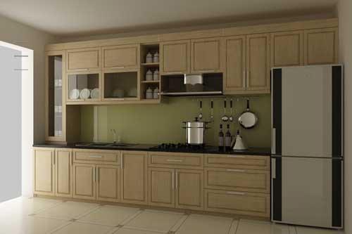 Kệ bếp gỗ tự nhiên 085
