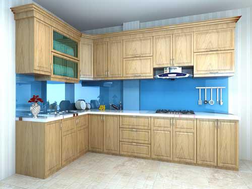 Kệ bếp gỗ tự nhiên 091