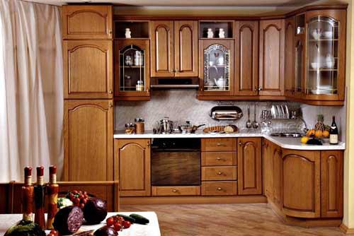 Kệ bếp gỗ tự nhiên 096
