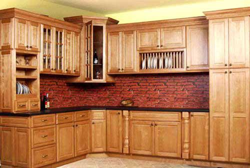 Kệ bếp gỗ tự nhiên 099
