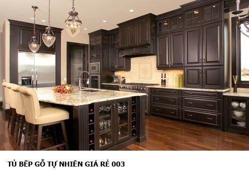 Tủ bếp gỗ tự nhiên 003