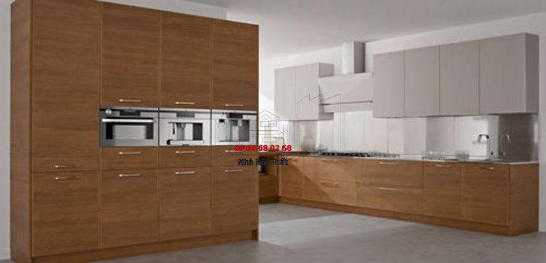 Tủ bếp gỗ công nghiệp giá rẻ 002