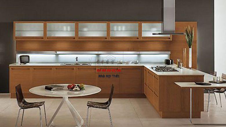 Tủ bếp gỗ công nghiệp giá rẻ 003