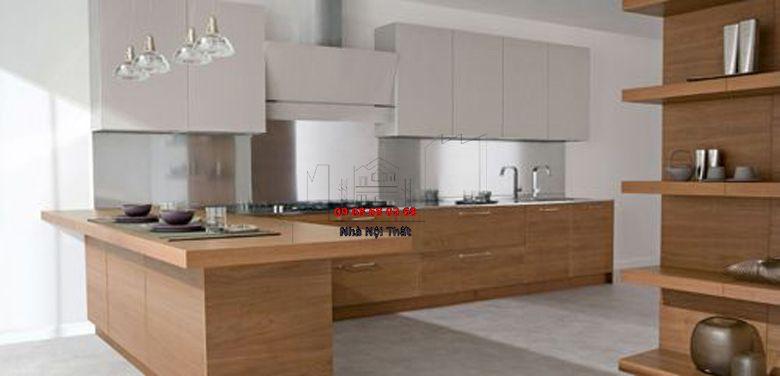 Tủ bếp gỗ công nghiệp giá rẻ 007