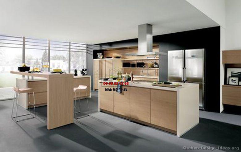 Tủ bếp gỗ công nghiệp giá rẻ 009