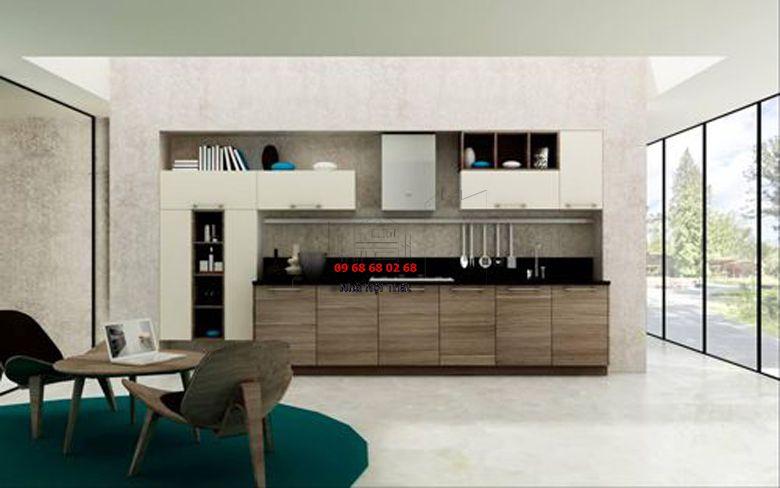 Tủ bếp gỗ công nghiệp giá rẻ 010