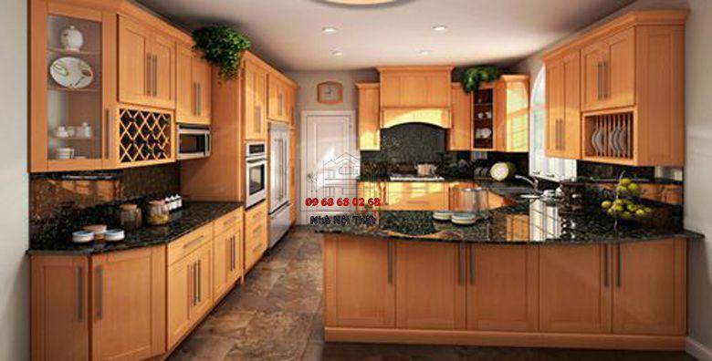 Tủ bếp gỗ công nghiệp giá rẻ 011