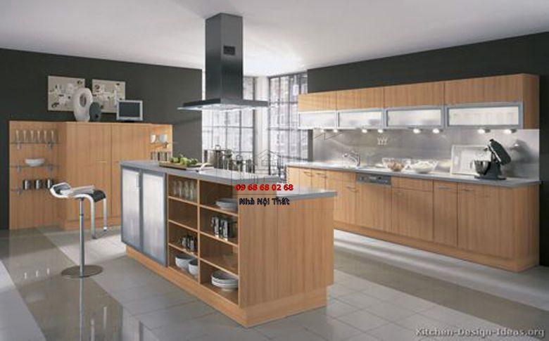 Tủ bếp gỗ công nghiệp giá rẻ 012