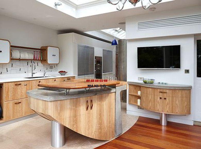 Tủ bếp gỗ công nghiệp giá rẻ 013