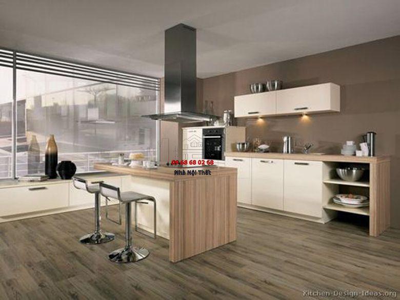 Tủ bếp gỗ công nghiệp giá rẻ 014
