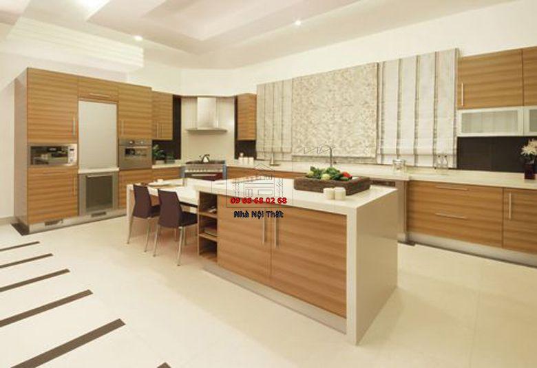 Tủ bếp gỗ công nghiệp giá rẻ 015