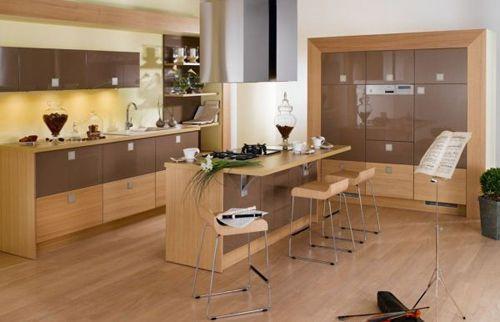 Tủ bếp gỗ công nghiệp giá rẻ 018