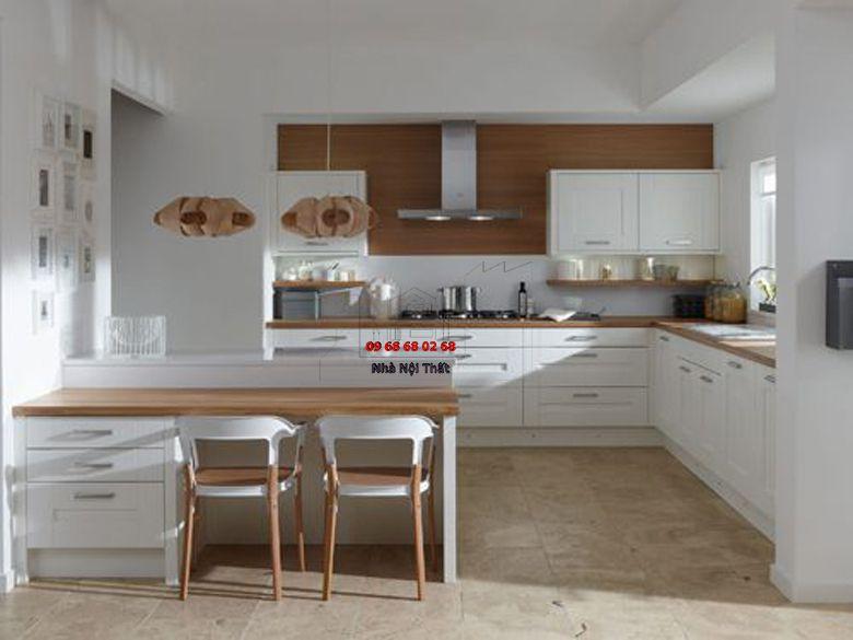 Tủ bếp gỗ công nghiệp giá rẻ 019