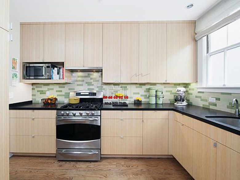 Tủ bếp gỗ công nghiệp giá rẻ 020