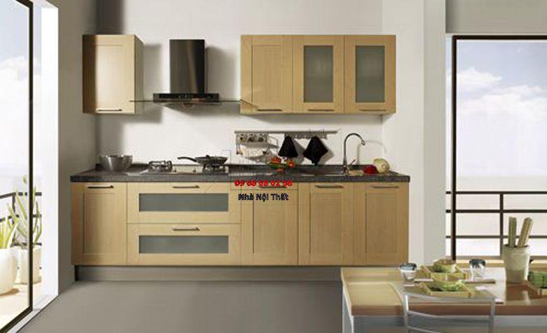 Tủ bếp gỗ công nghiệp giá rẻ 021