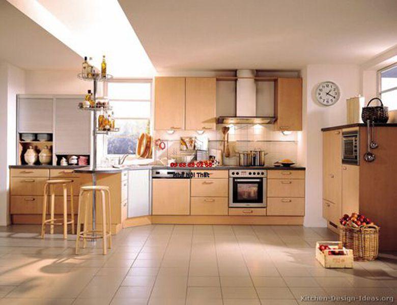 Tủ bếp gỗ công nghiệp giá rẻ 022
