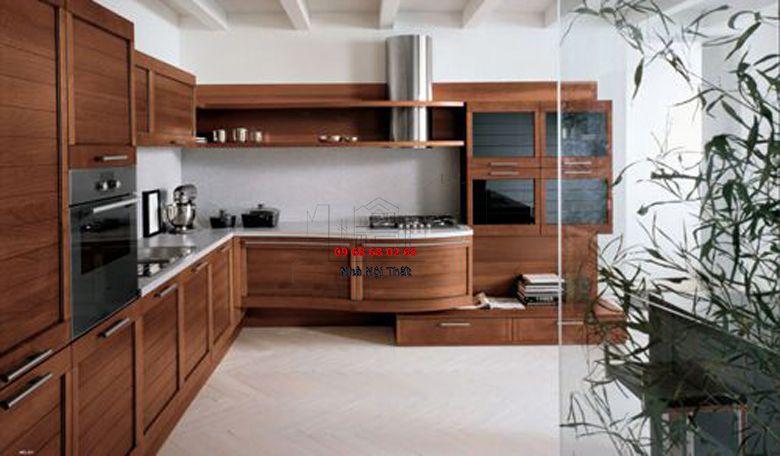 Tủ bếp gỗ công nghiệp giá rẻ 023