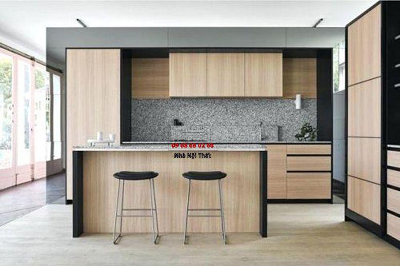 Tủ bếp gỗ công nghiệp giá rẻ 024
