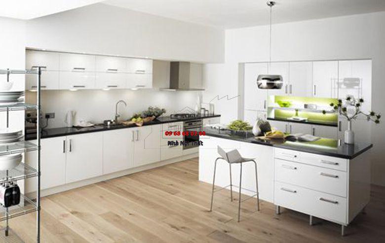 Tủ bếp gỗ công nghiệp giá rẻ 027