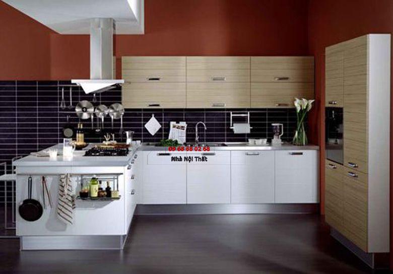 Tủ bếp gỗ công nghiệp giá rẻ 028