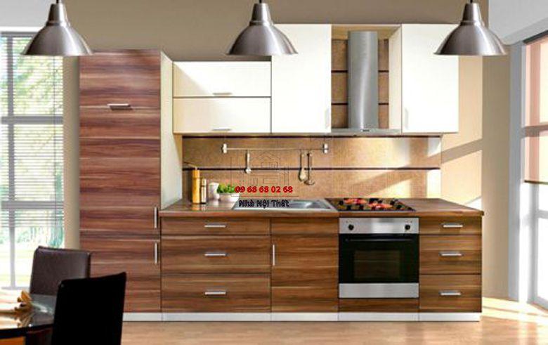 Tủ bếp gỗ công nghiệp giá rẻ 030