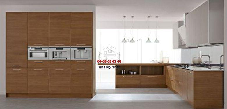 Tủ bếp gỗ công nghiệp giá rẻ 031