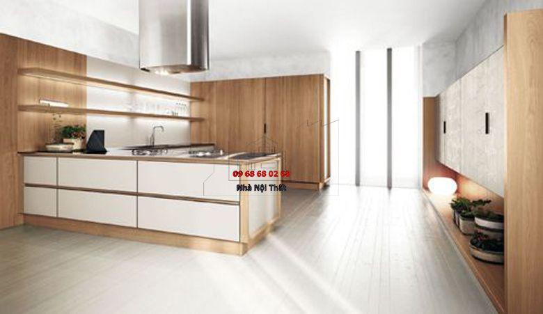 Tủ bếp gỗ công nghiệp giá rẻ 033