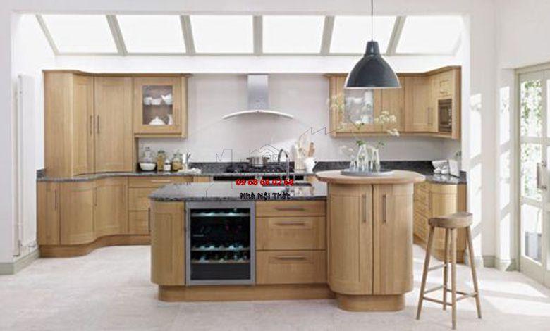 Tủ bếp gỗ công nghiệp giá rẻ 037
