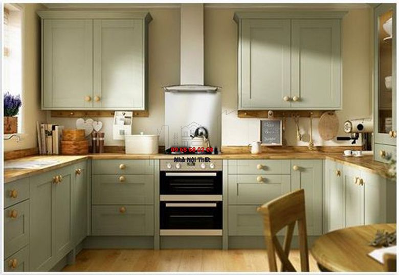 Tủ bếp gỗ công nghiệp giá rẻ 040