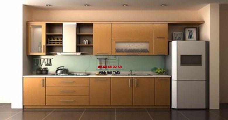 Tủ bếp gỗ công nghiệp giá rẻ 042