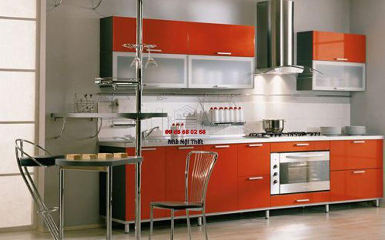 Tủ bếp gỗ công nghiệp giá rẻ 049