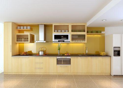 Tủ bếp gỗ công nghiệp giá rẻ 053