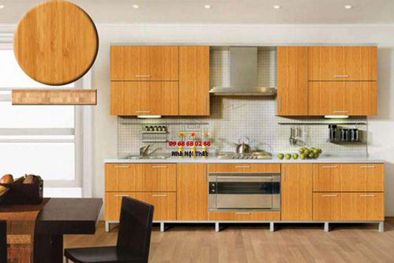Tủ bếp gỗ công nghiệp giá rẻ 064
