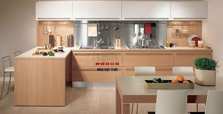 Tủ bếp gỗ công nghiệp giá rẻ 072
