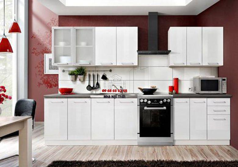 Tủ bếp gỗ công nghiệp giá rẻ 075