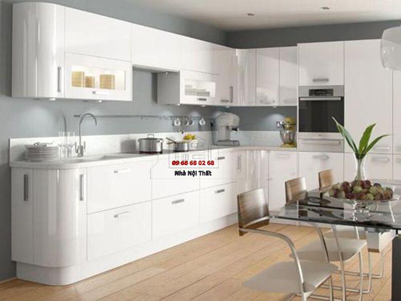 Tủ bếp gỗ công nghiệp giá rẻ 076