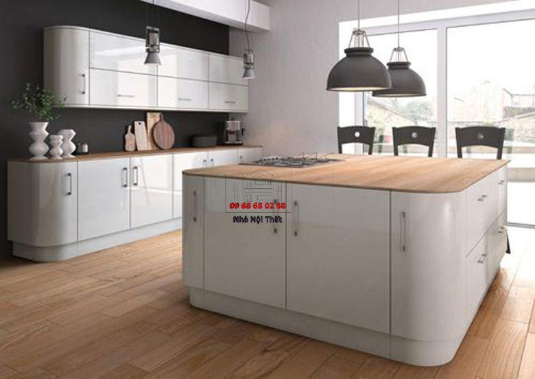 Tủ bếp gỗ công nghiệp giá rẻ 077