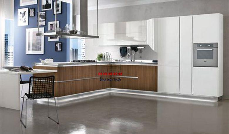 Tủ bếp gỗ công nghiệp giá rẻ 097