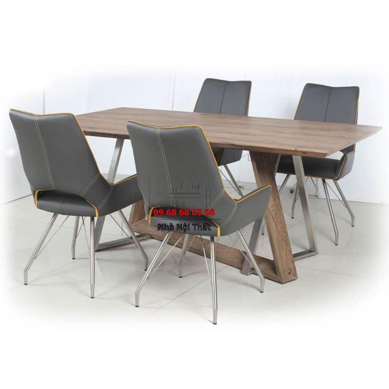Bàn ghế ăn gỗ công nghiệp 001