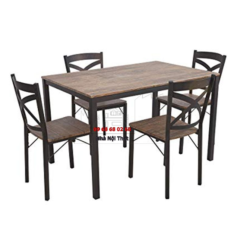 Bàn ghế ăn gỗ công nghiệp 002