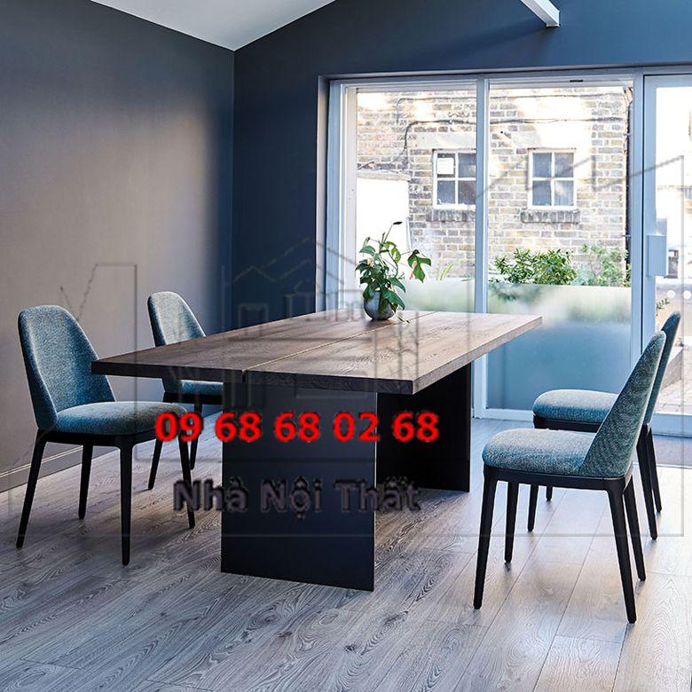 Bàn ghế ăn gỗ công nghiệp 004