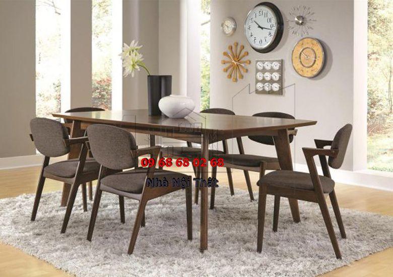 Bàn ghế ăn gỗ công nghiệp 005