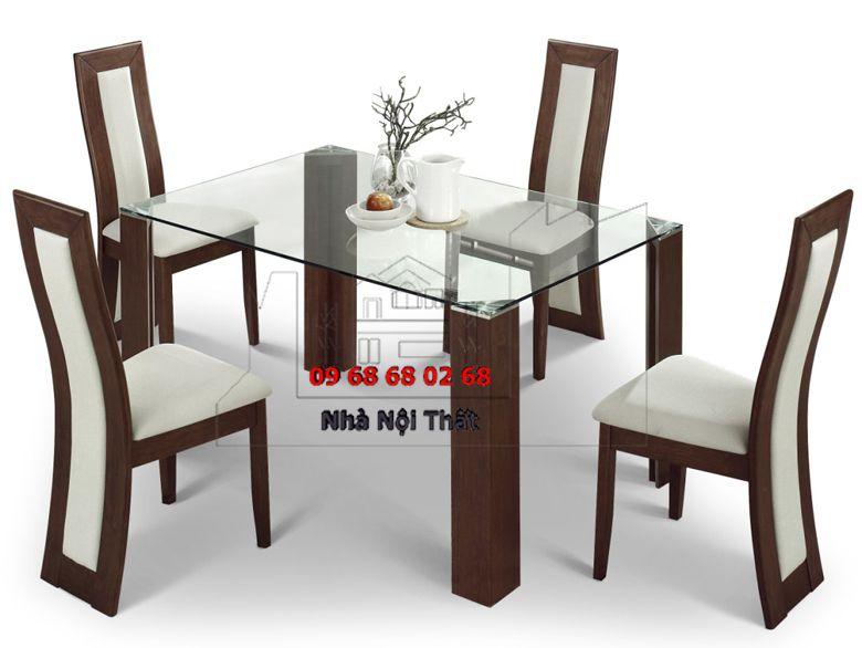 Bàn ghế ăn gỗ công nghiệp 006