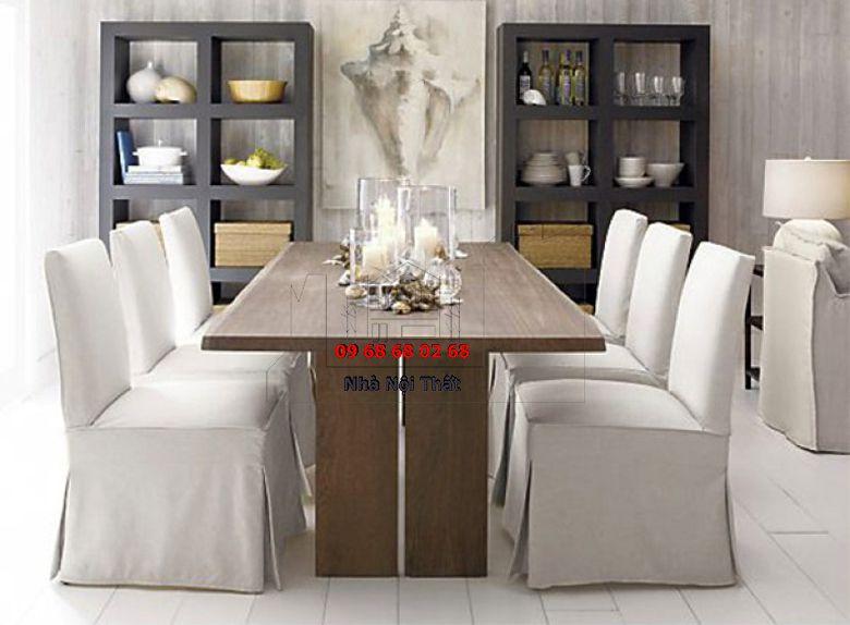 Bàn ghế ăn gỗ công nghiệp 008