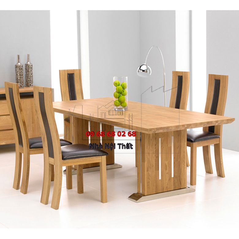 Bàn ghế ăn gỗ công nghiệp 009